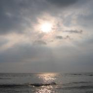 Sri Lanka: Päike India ookeani kohal.