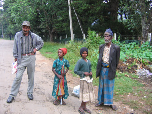 Mägedes asuva teekasvatuse pealinna Nuwara Eliya tamilitest elanikud.